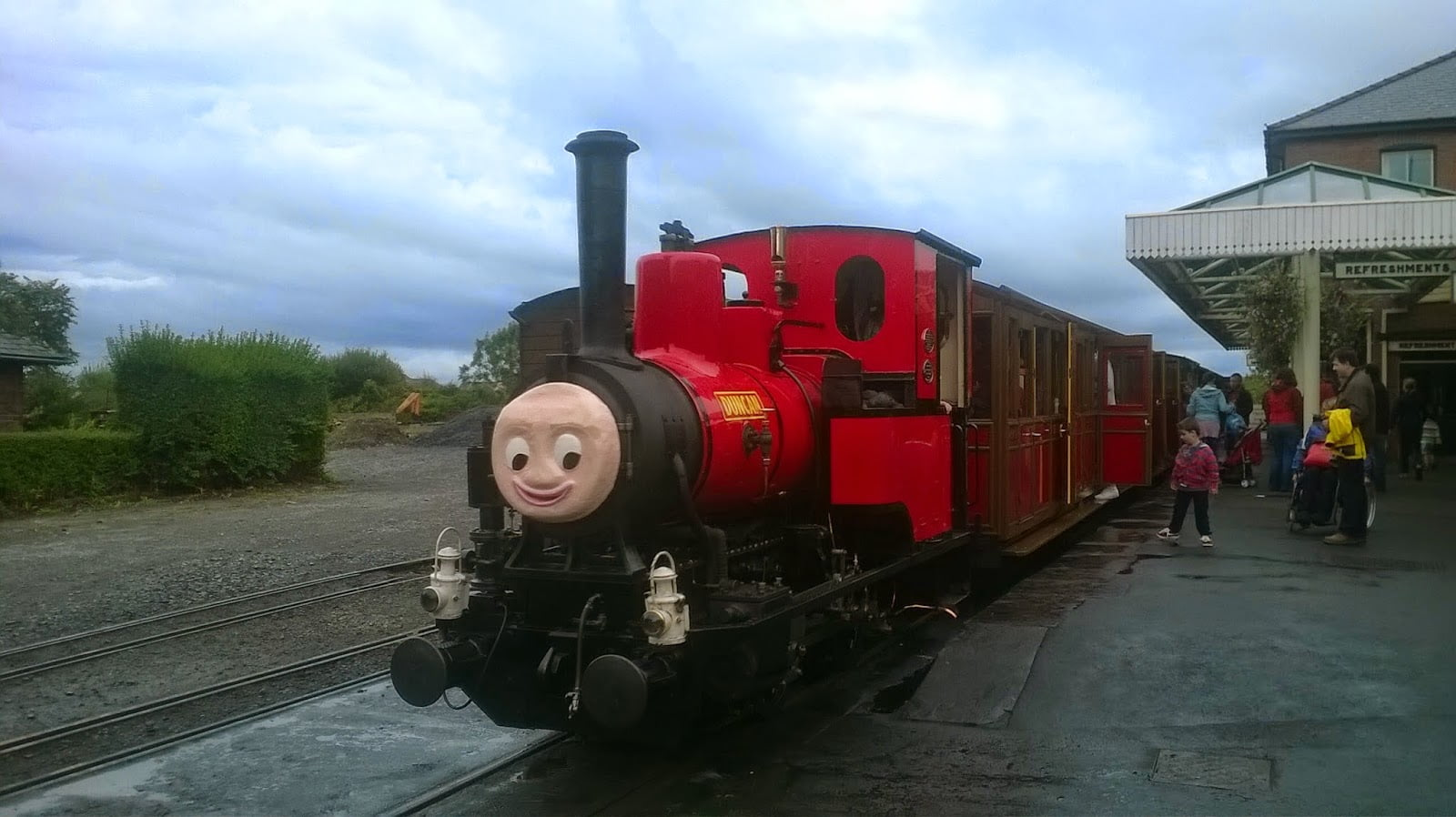 Duncan at Wharf Station on the Talyllyn Railway