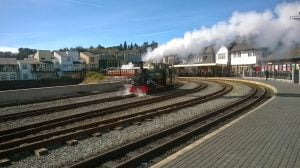 Blanch at Porthmadog on the Ffestiniog Railway