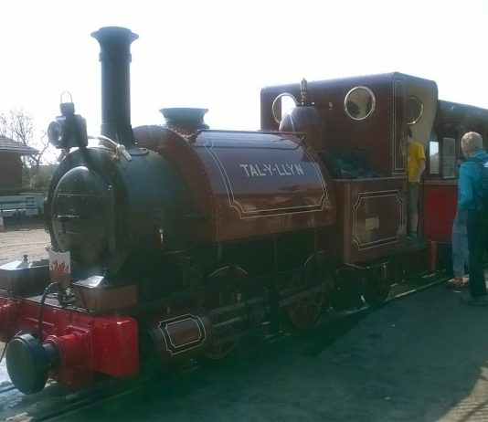 Talyllyn at Wharf Station on the Talyllyn Railway