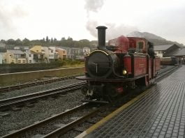 [FR] David Lloyd George at Harbour Station in the Rain at the end of the day 2 on the Ffestiniog Railway