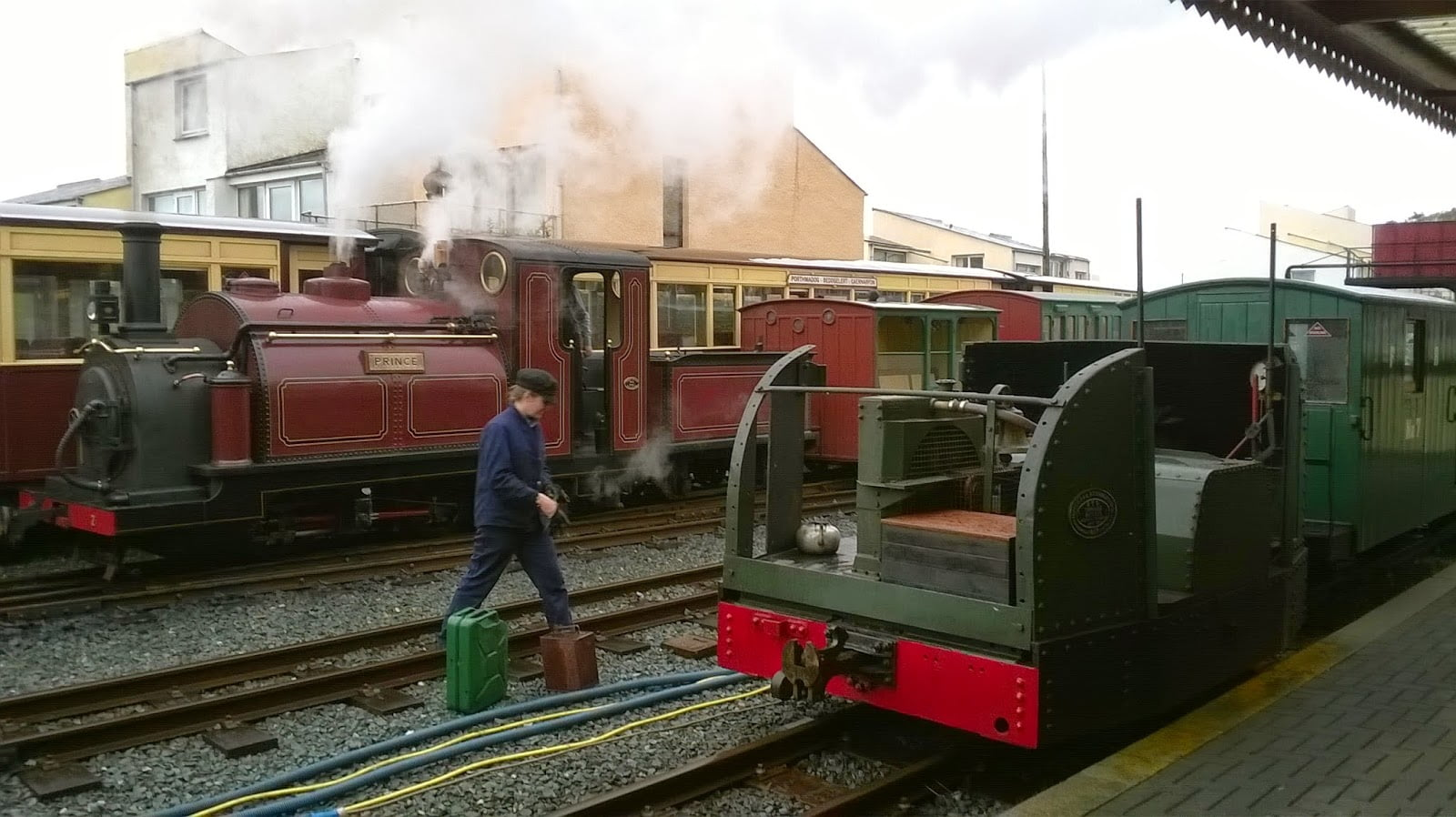 Mary Ann and Prince Shunting at Porthmadog
