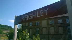 Keighley Station sign