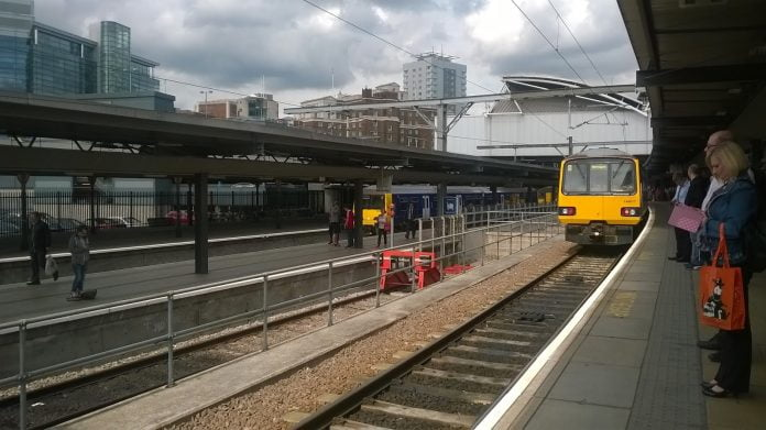 Class 144 at Leeds Station 144017