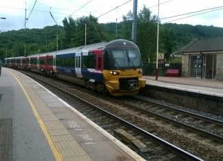 Class 333 at Keighley heading for Skipton