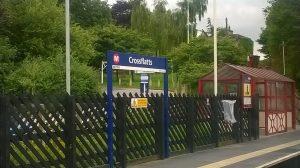 Crossflatts Station Sign