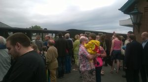 The crowd at Tywyn Wharf
