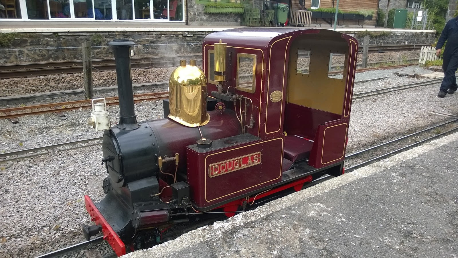 Douglas at the station