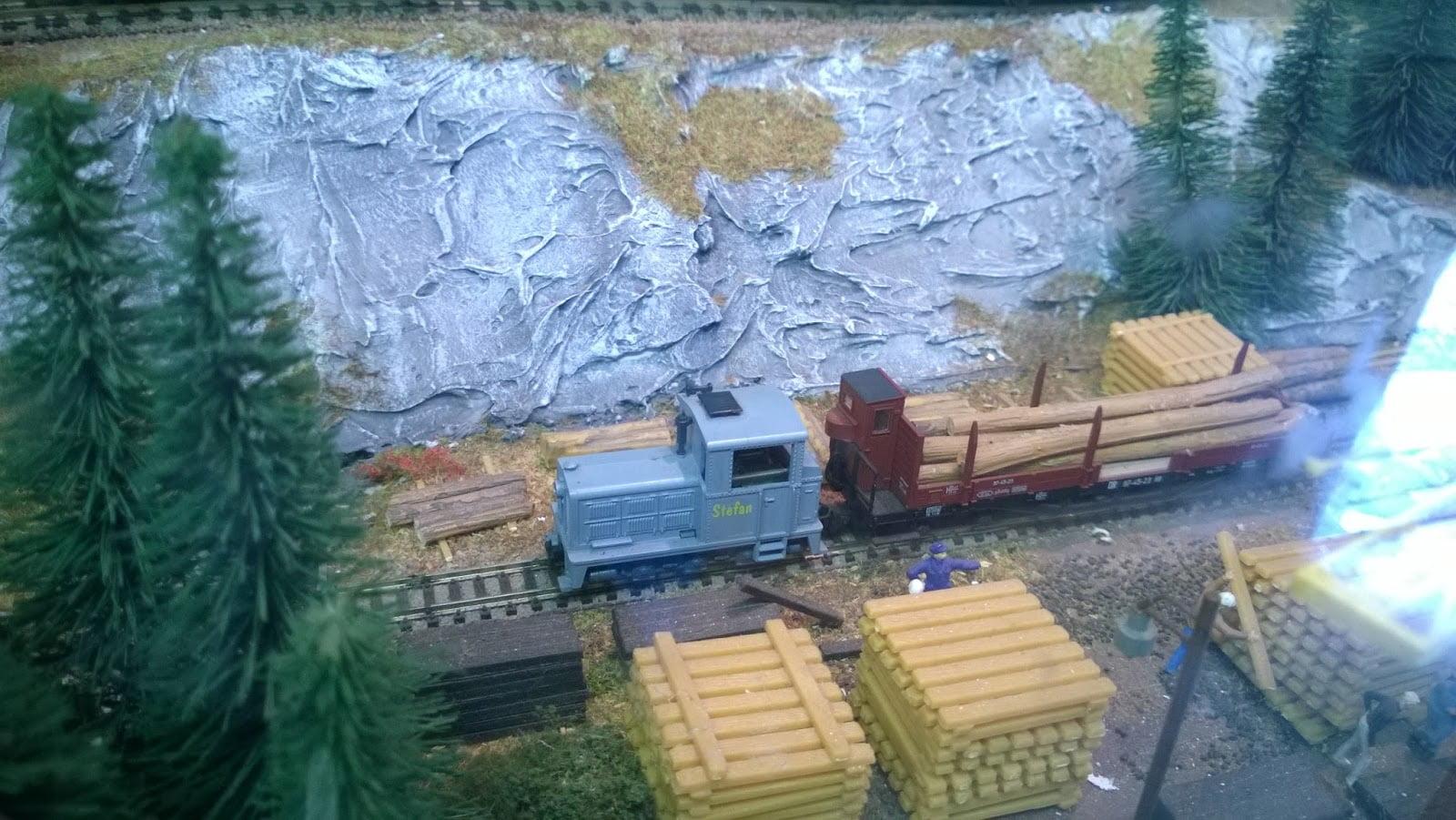 Model Railway Wood Yard