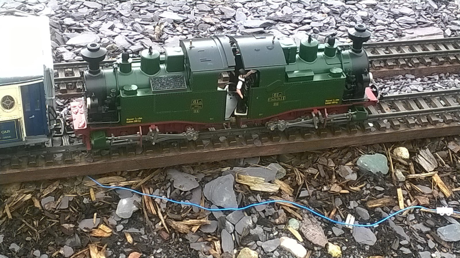 Model of a Double Farlie loco at Gypsy Wood Park