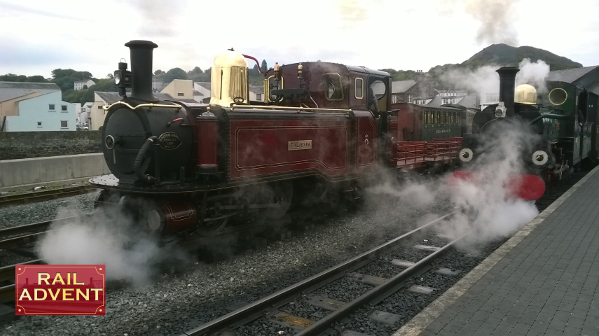 Linda and Taliesin at Porthmadog
