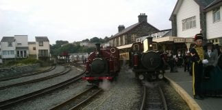 Palmerston and Taliesin at Porthmadog