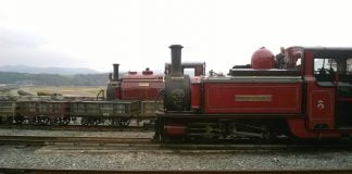 Prince and David Lloyd George at Porthmadog