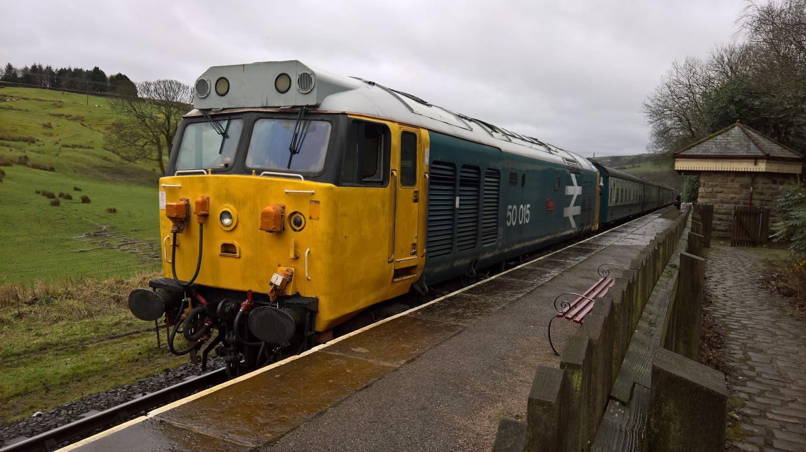 Class 50 at Irwell Vale
