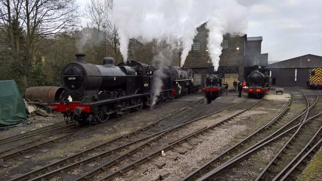 Locomotives preparing at Haworth