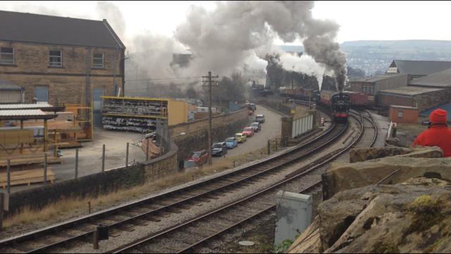 No. 1054 & Nunlow depart Keighley