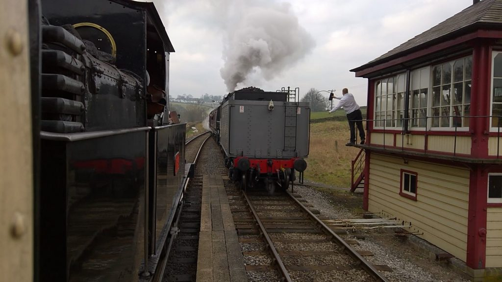 No. 1054 passes Big Jim at Damems Jnc