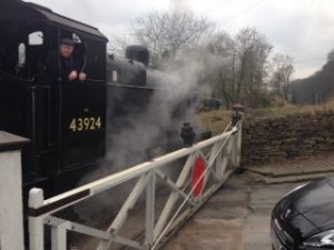 No. 43924 prepares for departure at Oakworth