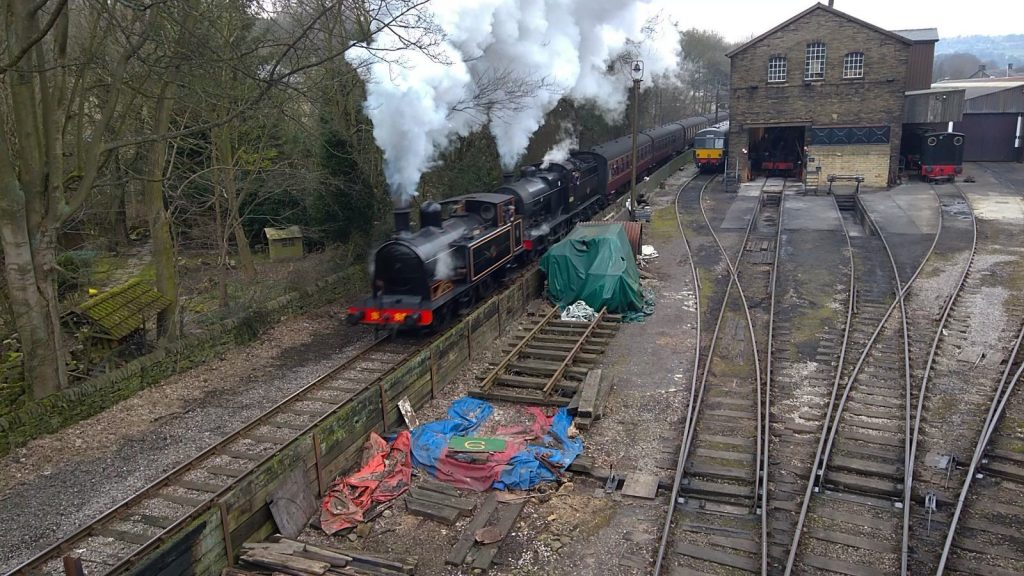 No. 85 & 43924 depart Haworth