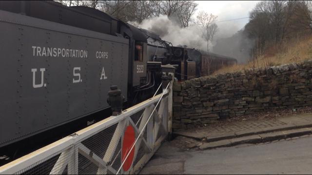 No. 85 and S160 'Big Jim' at Oakworth