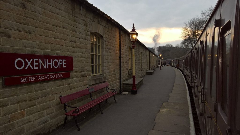 Oxenhope in the setting sun