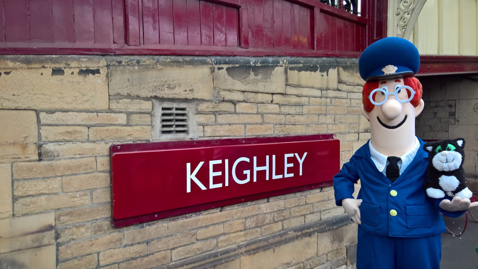 Postman Pat & Jess the Cat at Keighley on the Keighley & Worth Valley Railway