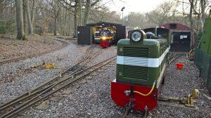 Locomotives at Woody Bay