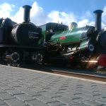 Linda and Merddin Emrys on the Ffestiniog Railway