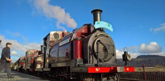 The Snowdonian at Porthmadog on the Ffestiniog & Welsh Highland Railway