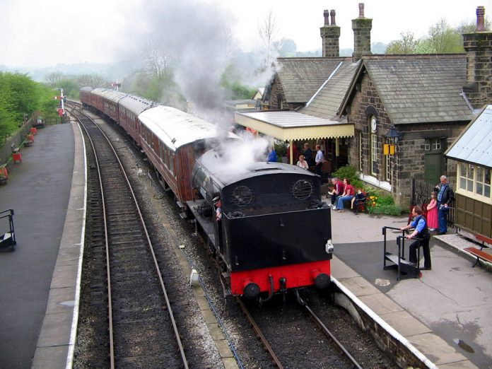 Embsay station on the Embsay & Bolton Abbey Railway
