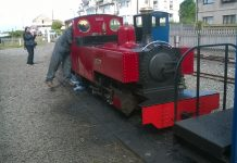 Russell at Fairbourne Station