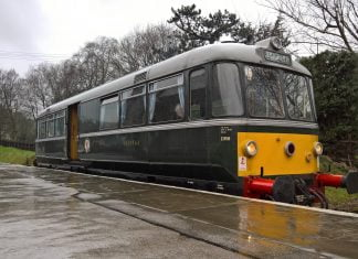 DMU M79964 at Oxenhope on the Keighley & Worth Valley Railway