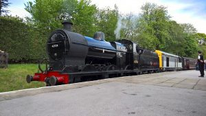 No. 43924 and No. 20031 at Oxenhope on the Keighley & Worth Valley Railway
