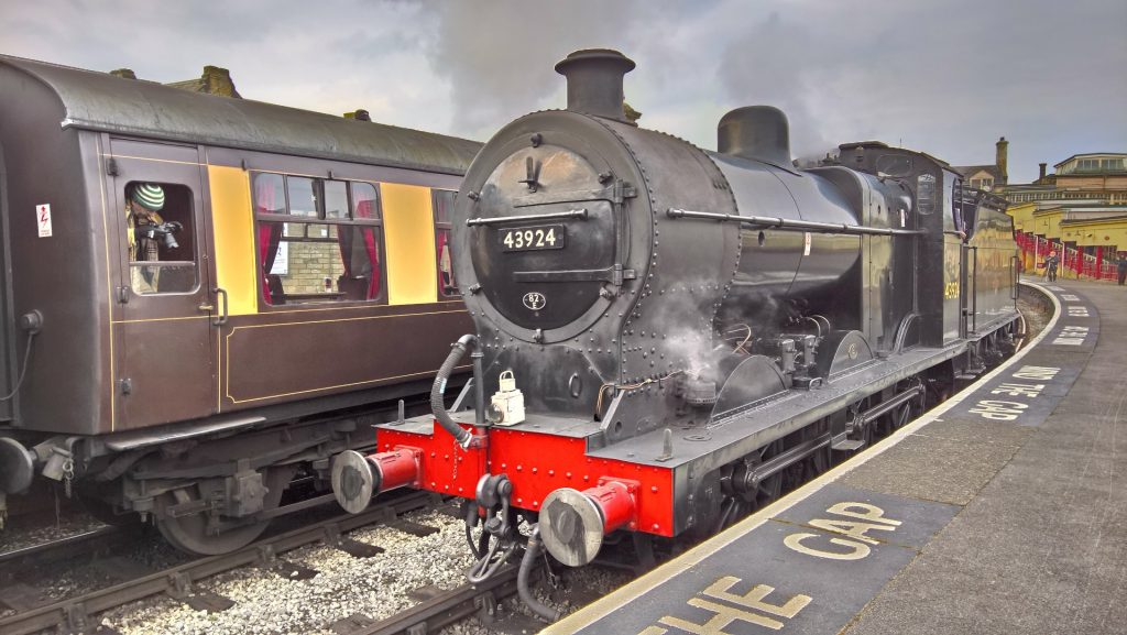 No. 43924 at Keighley station