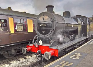 No. 43924 at Keighley station on the Keighley & Worth Valley Railway