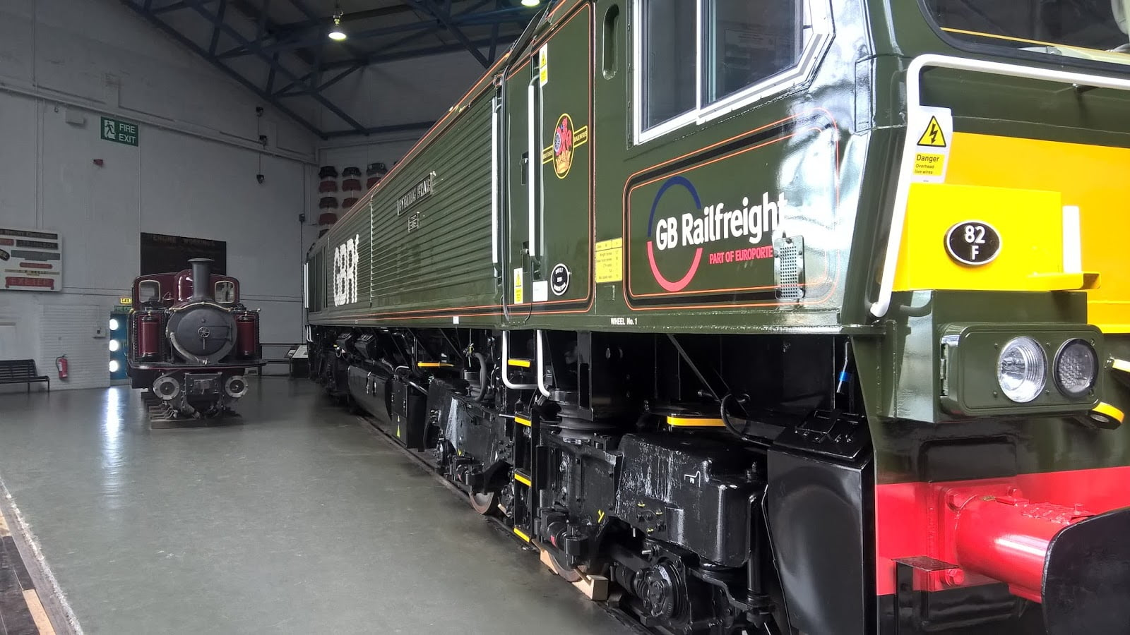Livingston Thomas and No. 66779 Evening Star at the NRM