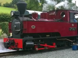 Joan at Llanfair on the Welshpool & Llanfair Railway