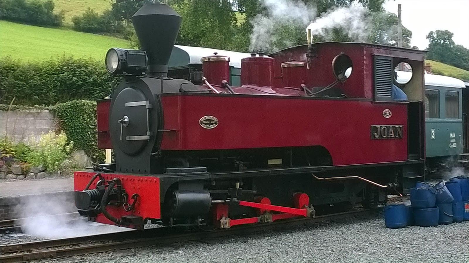 Joan at Llanfair on the Welshpool & Llanfair Railway