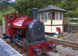 Corris Railway Steam Engine No 7 at Maespoeth