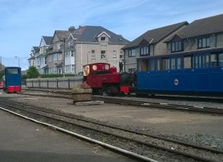 Russell & Gwril on the Fairbourne Railway