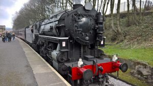 Big Jim at Ingrow West on the Keighley & Worth Valley Railway