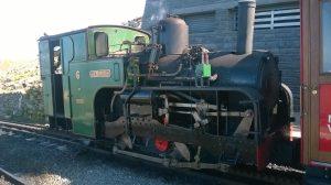 No. 6 Padarn at Snowdon Summit on the Snowdon Mountain Railway