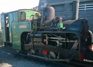 No. 6 Padarn at Snowdon Summit on the Snowdon Mountain Railway
