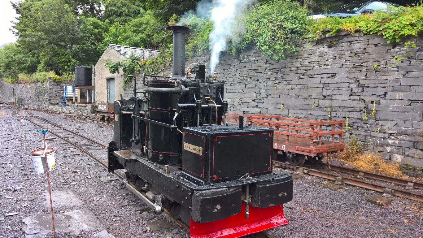 Chaloner at the Penrhyn Quarry Railway