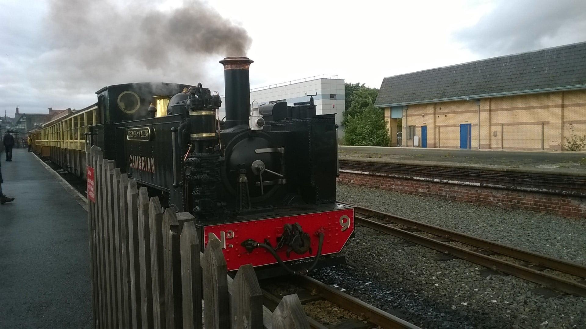 No. 9 Prince of Wales on the Vale of Rheidol Railway