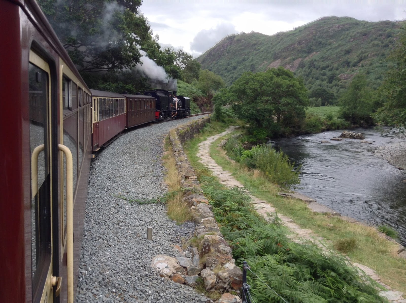 Aberglaslyn Pass on the Welsh Highland Railway
