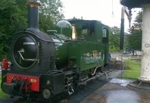 No. 2 Countess at Welshpool on the Welshpool and Llanfair railway