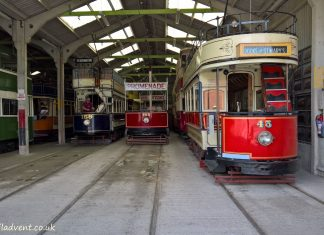 The sheds at Crich Tramway Village & Museum