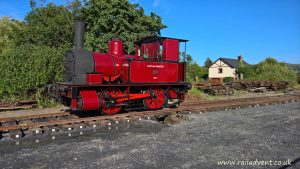 Captain Baxter at Tywyn during the Talyllyn 150 Celebrations