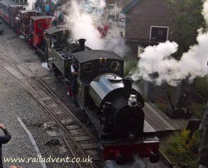 The Cavalcade departs Tywyn during Talyllyn 150 Celebrations