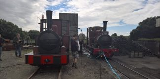 William Finlay & Dolgoch during the Talyllyn 150 Celebration